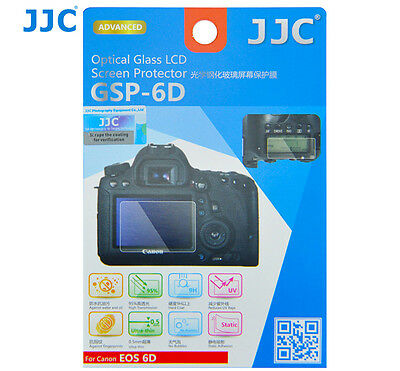 JJC GSP-6D Optical GLASS LCD Screen Protector Film for CANON EOS 6D DSLR _AU