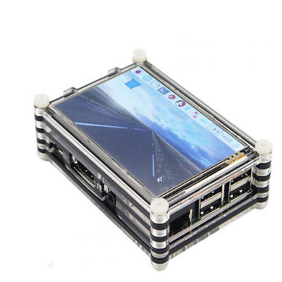 KF_Raspberry Pi 3 Pi 2 Model Touch Screen 9 Layer Clear Acrylic Case Enclosure