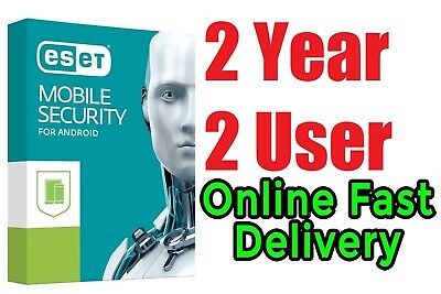 Eset Mobile Security 2018 to 2020 for Android 2 Year 2 user Fast Delivery