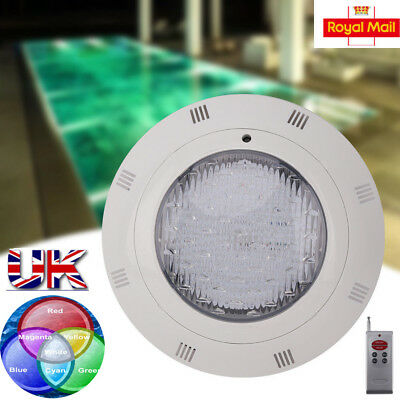12V 18W RGB 216 LED Swimming Pool Light Remote Control Underwater SPA Lamp IP68