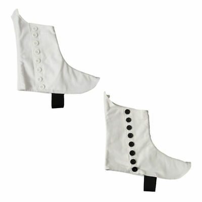 Highland Pipers Drummer Kilt Spats White & Black Buttons/Scottish Kilt Spats