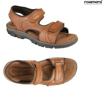 MENS ROAMERS LEATHER Sports Sandals Size Uk 6 12