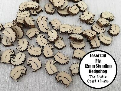 10PC 12mm Wooden Laser Cut Standing Hedgehog Shape Ply Blank Craft Wood Flatback