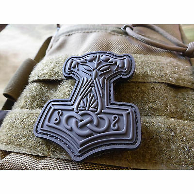 JTG Thors Hammer Mjölnir Patch, blackops / 3D Rubber Patch