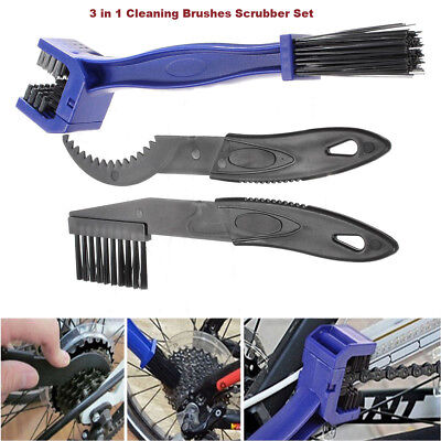 3X Cycling Chain Wheel Brush Cleaner Motorcycle Bike Cleaning Scrubber Wash Set