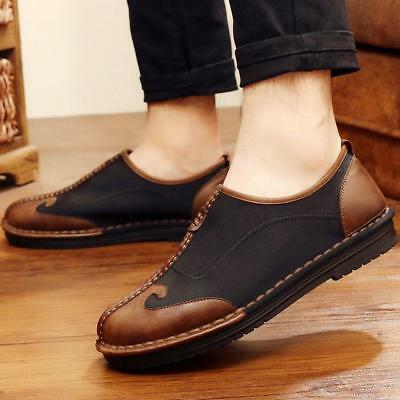 retro Chinese Style Kung Fu Mens Shoes Flat Casual Comfort low top cloth shoes