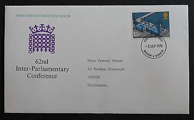 GB FDC - 62nd INTER PARLIAMENTARY - 3 September 1975 - Harrow & Wembley