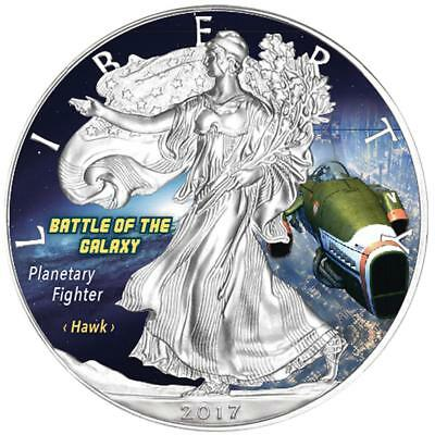 USA - 1 Dollar 2017 - Silver Eagle - Planetary Fighter (4.) - 1 Oz Silber ST