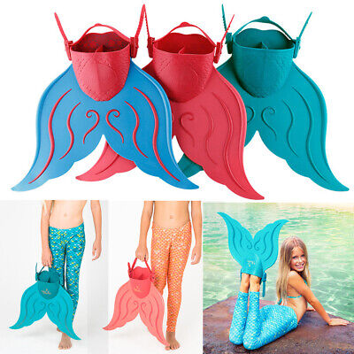Swimmable Monofin Mono Kids Mermaid Tail Swimming Fin Foot Training Flippers