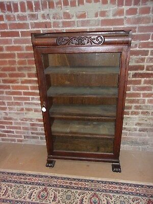 Antique Oak Bookcase Claw Feet Original Finish-Selling Out