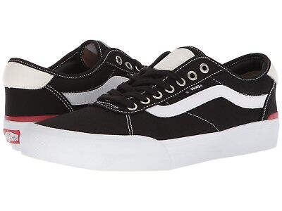 VANS CHIMA PRO Canvas Black White Skate Shoes Men Sizes