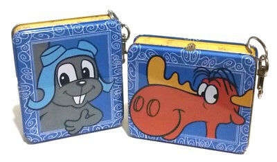 Rocky and Bullwinkle Mini Tin Lunchboxes, Mini Lunch Boxes Set of 2