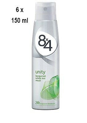 "8x4 Deospray Men/Women ""Unity"" - 6er Pack (6 x 150 ml)"