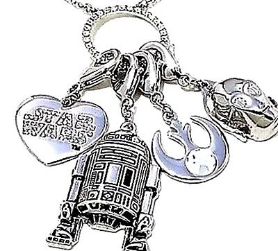Star Wars Necklace with 4 Removable Charms Sci Fi The Light Side