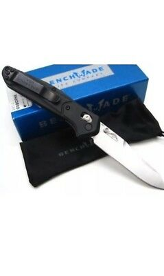* BENCHMADE New 940-2 Black G-10 Handle Osborne Plain Edge S30V Blade Knife