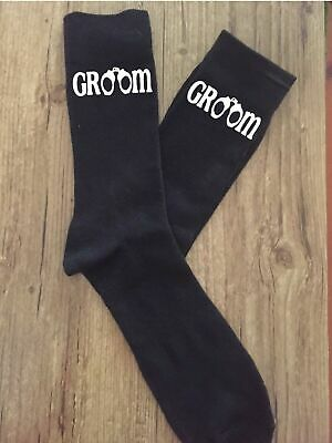 Novelty Handcuff Groom Wedding Socks Stag Night Bucks Party Engagement Gift