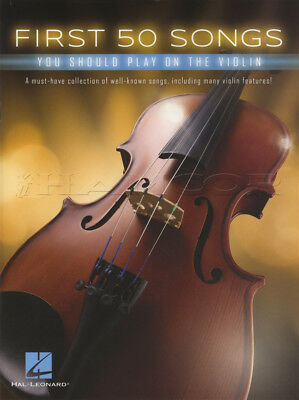 First 50 Songs You Should Play On The Violin Sheet Music Book Classical Jazz Pop
