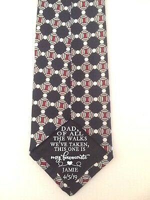 Dad of all our walks iron on Wedding Tie Patch