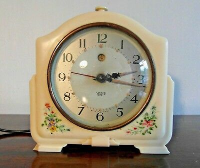 Vintage Fully Working SMITHS SECTRIC Model CA Bakelite Electric Alarm Clock