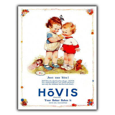 HOVIS BREAD Vintage Old Advert METAL WALL SIGN PLAQUE Kitchen poster print 1930s