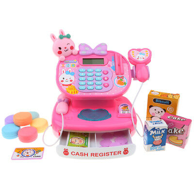 Kid Pretend Play Supermarket Shopping Cashier Toy Electronic Cash Register