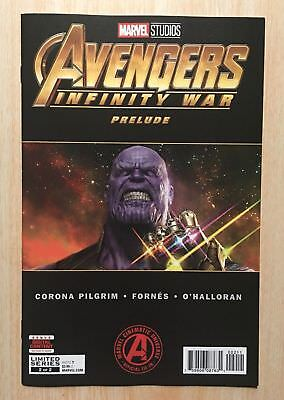 Avengers Infinity War Prelude #2 of 2 Comic Low Print Nr-mint Thanos Key 9.8