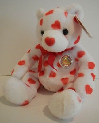 TY Beanie Babies HEARTTHROB Red Hearts Bear 2003 Bear Retired Beanie Baby NWT