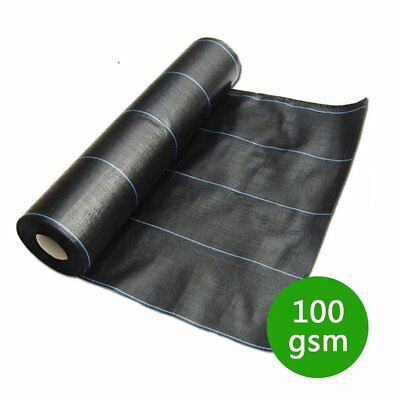 1/2/3/4M 100gsm Weed Control Fabric Ground Cover Membrane Landscape Mulch Garden
