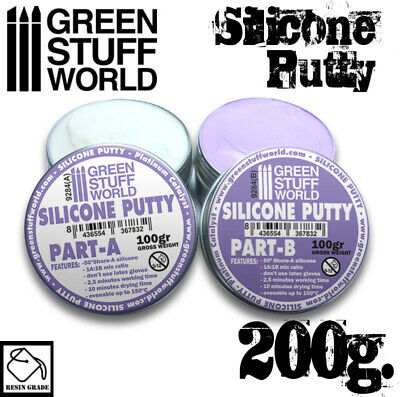 Blue Silicone Putty 200gr - Resin Putty Modelling Figures Figurines Moulds Molds