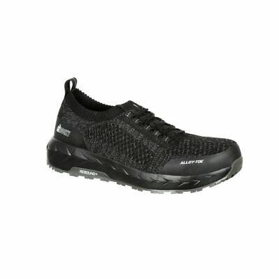 Rocky WorkNit LX RKK0248 Mens Black/Grey Alloy Toe Athletic Work Shoe