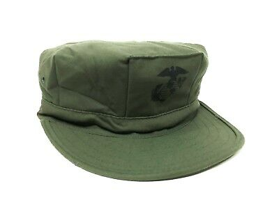 USMC 8 POINT COVER OLIVE DRAB WITH EGA SATEEN Size 7 1/4(Medium)