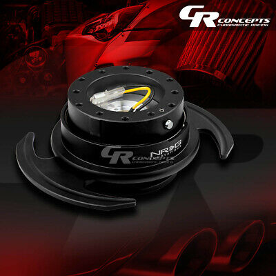 Nrg Universal Steering Wheel Lock Quick Release Adaptor Gen 3.0 Black Body+Ring