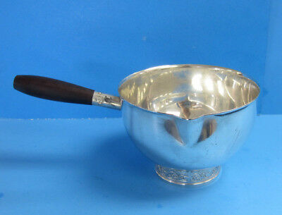 Silver Plated Hans Jensen Denmark Soup Separator Wood Handle  -- Free Shipping *
