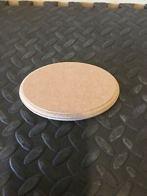 Wooden MDF Oval craft plaque plinth blank template 12mm thick with a profile edg
