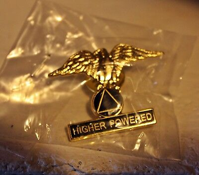 A.A. Higher Powered Eagle Biker Pin Gift alcoholic anonymous