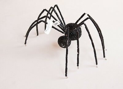 Pottery Barn jeweled spider object  Halloween   large black