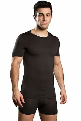 HOM Men's Soft Silk Round Neck T-Shirt