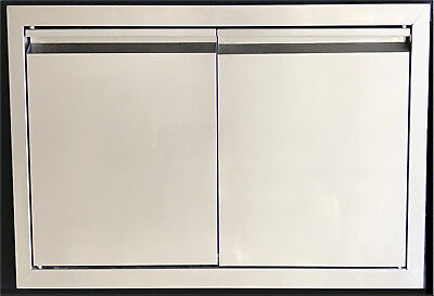 "29"" Double Walled Access Door Outdoor Kitchen / Bbq Island 304 Stainless Steel"