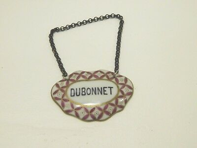 RARE Dubonnet Made In France Liquor Collar Hang Tag Staffordshire