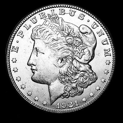 1921 S ~**ABOUT UNCIRCULATED AU**~ Silver Morgan Dollar Rare US Old Coin! #819