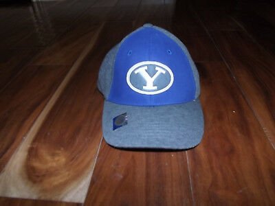 20e45317320 NWT Mens BYU Cougars Blue Gray Adjustable Baseball Football Hat Cap One Size