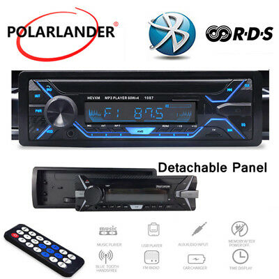 Car Radio RDS + 1 Din Car MP3 Player AM Pannello Staccabile Bluetooth Stereo