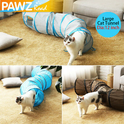 Pet Kitten Cat Play Tunnel S Shape Collapsible Crinkle Rabbit Toy Interactive