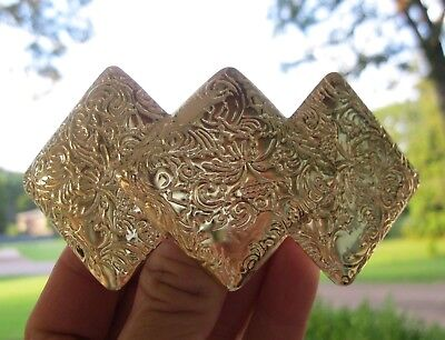 Vintage Nos Gold Lightweight Metal Hair Barrette French Clip Retro 70's 80's