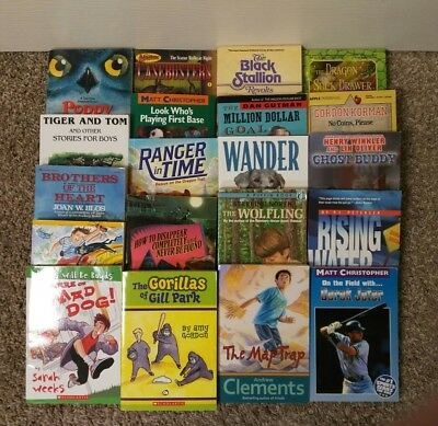 Lot Of 20 Childrens Chapter Books For Boys Ages 9 12 Adventure Mystery Sports