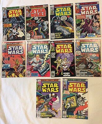 STAR WARS 1977 Vintage Comics Lot of 10 - Issues #21 to #30 [All 1st Prints!!]