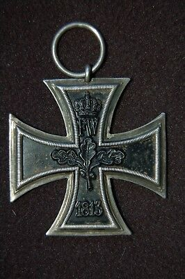 WWI PRUSSIAN IRON CROSS MEDAL II KLASSE on NC ribbon