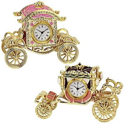 Collectible Carriages Clocks: Set of Two Quartz Watch Battery Operated Tabletop