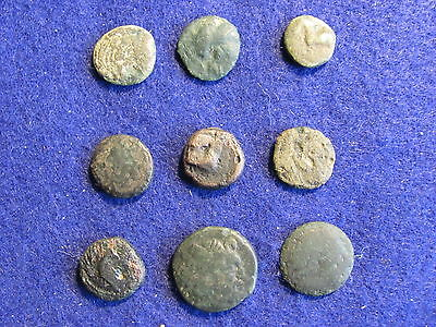 Fantastic RARE Lot of 9 Greek coins of Macedonia / Thrace