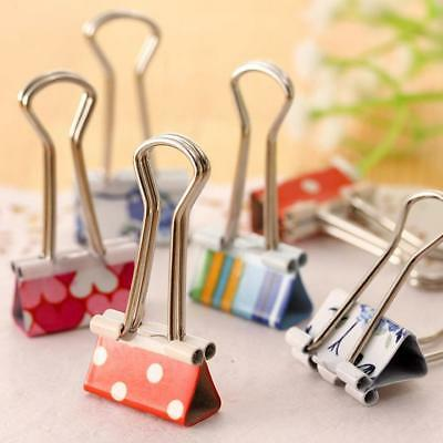 24Pcs Colorful Metal Paper File Ticket Binder Clips 19mm Office School Supplies